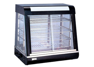 Electric Heating Cake Display Cabinet Counter Top 3-Layers Glass Food Warmer Showcase