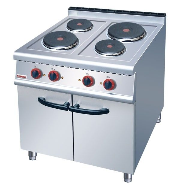 JUSTA Electric 4-Plate Range Burner Cooking Range With Cabinet Western