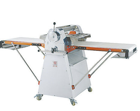 Free Standing Dough Roller Machine / Pastry Processing Equipments 2540 * 910 * 1150mm Two - way Belt - Driven